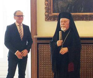 ο Σεβ. Μητροπολίτης Γερμανίας κ. Αυγουστίνος και ο Δήμαρχος κ. Andreas Mucke